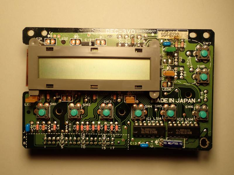 HP LJ II SH7-9230 overview with board