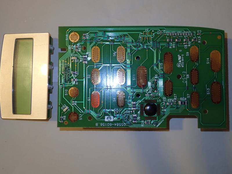 HP PSC1610 overview with board