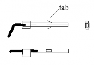 tabs on Molex connector pins